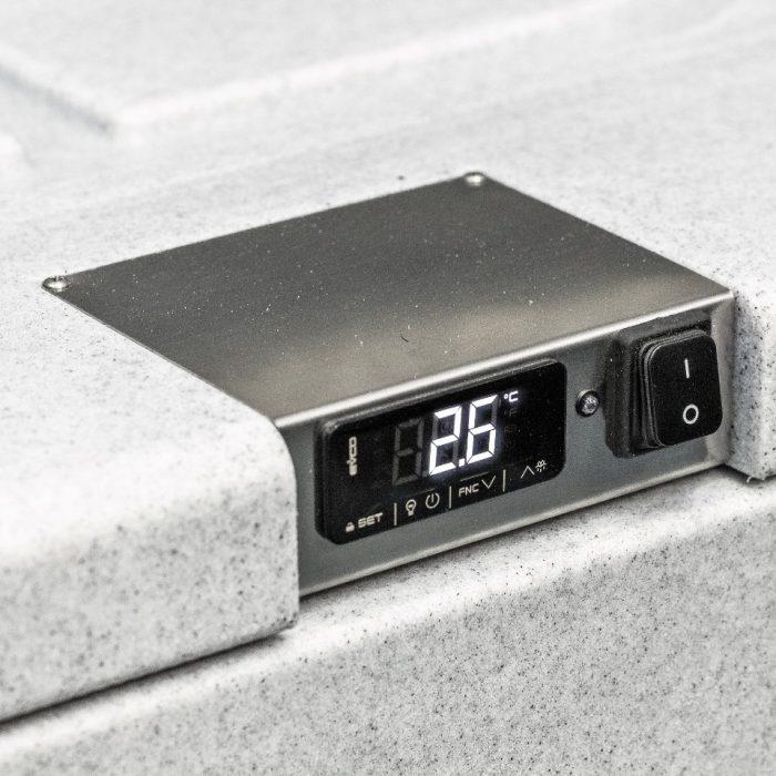 Contenitore refrigerato da 82 litri, dettaglio