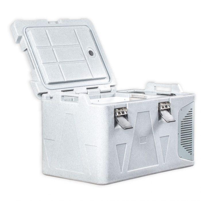 Contenitore refrigerato da 82 litri, dettaglio apertura